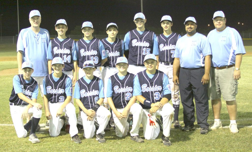 Courtesy Photo The Bossier Americans finished runner-up in the Dixie Junior Boys (13-14) District 4 tournament earlier this month. Team members are (in alphabetical order) Thomas Bush, Christopher Deane, Cole Haynes, Connor Johnson, Kade Madden, Connor Polk, Colby Richard, Colt Shankle, Liam Stedman and Jake Vance.