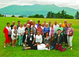 Group of locals who toured Ireland, led by Brian O'Nuanain (center) this summer.