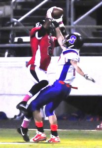 Jere Grice/Press-Tribune Parkway's Cory Hamilton goes up for a catch in the Panthers' victory over Southwood Friday.