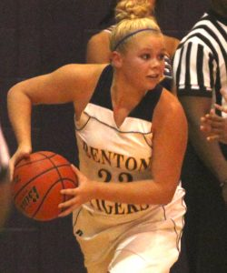 Russell Hedges/Press-Tribune Madi Sessions scored 17 points in Benton's win over Airline Thursday at Benton.