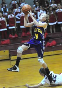 Jere Grice/Press-Tribune Benton seventh-grader Emily Ward heads to the basket during the Lady Tigers' victory over Haughton Monday.