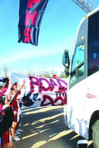 Students and supporters gathered at Parkway High School Thursday for a send off pep rally for the football team's trip to New Orleans for the title game.