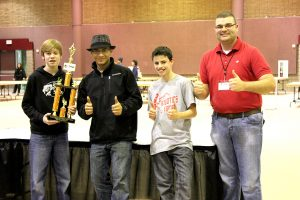 The Elm Grove Team 5 earned first place in the middle school division of RARC Competition II.