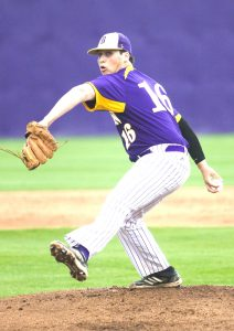 Benton's Aaron Henigan completed a no-hitter against Minden Monday at Benton. The game was resumed in the third after being delayed by rain Friday. Henigan struck out four and walked two in the 2-0 victory.