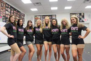 Vicki's School of Dance seniors are (left to right) Kaleigh Key, 18; Keriden Creech, 18; Emily Richardson, 18; Mari Lou Sharp, 18; Andi Gugliuzza, 18; Emily DiGiacomo, 17; Annalese Allison, 17; and Macy Bedingfield, 18.