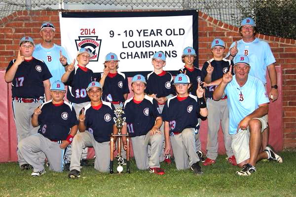 Courtesy Photo The Bossier All-Stars won the 9-10 Little League state baseball championship.
