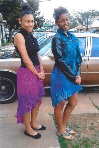 Missing teens Myesha Alexander( right) and Rosie Cobb (left).