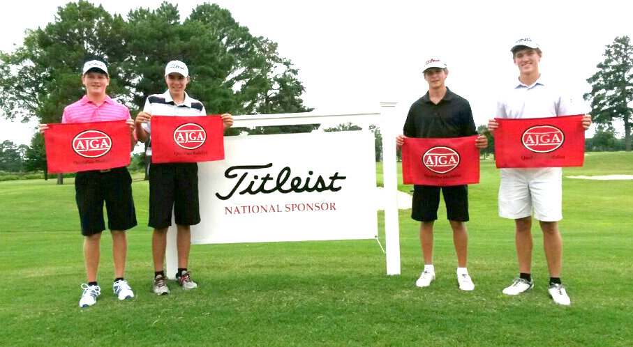 Courtesy Photo Matt Barker, Austin Hoff, Hayden White and Corbin Cantrell shared medalist honors in the qualifying round for the American Junior Golf Association David Toms Foundation Shreveport Open Sunday at Southern Trace Country Club.