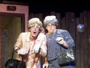 Courtesy Photo   Jessie Kortus (left) and Connor Snow (right) as two of the characters in BPCC's production of Greater Tuna.