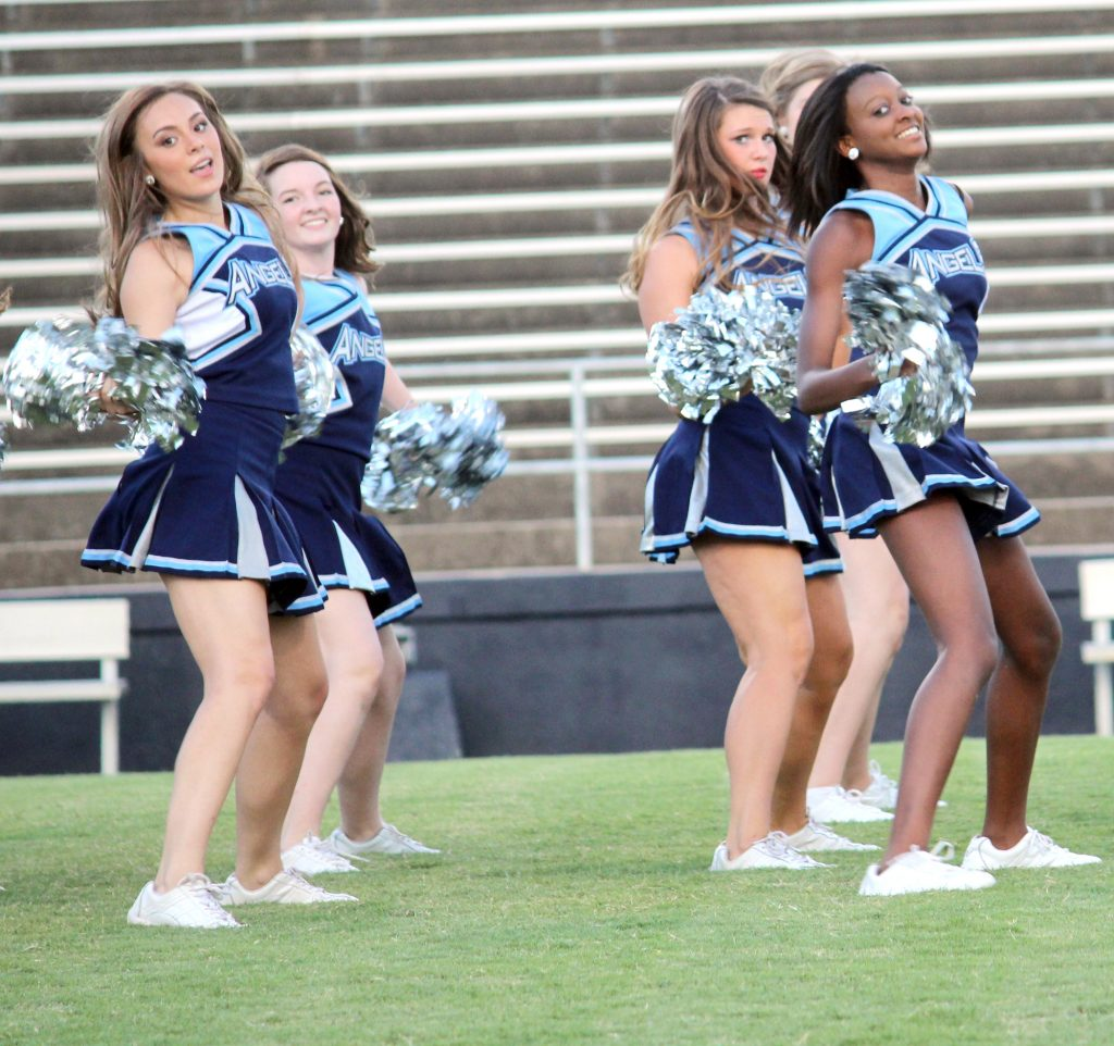 The Blue Angels from Airline High School danced the night away at Airline Community Spirit Night.