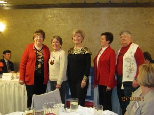 The 2015 PRWC officers sworn in, pictured left to right, are: Anita Braswell, Corresponding Secretary, Susan Taylor, Treasurer, Ms. Gore, Kerry Kimler, President & Pam Gutekunst, Vice Present.