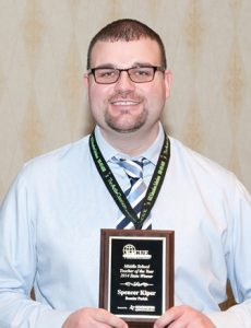 Elm Grove Middle School STEM teacher Spencer Kiper was recently named educator of the year by the Louisiana Association of Computer Using Educators.