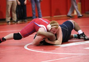 Robert Summerlin/Special to The Press-Tribune Haughton's Jonathan McCleskey was a winner in the 285-pound class.