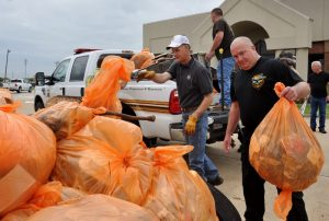 "Courtesy of the Bossier Sheriff's Office | Bossier Sheriff Julian Whittington, deputies, staff and community volunteers picked up nearly 50 bags of trash and debris during the first-ever ""Operation Clean Sweep."""