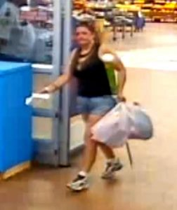 Courtesy of the Bossier Sheriff's Office | Still photo of a woman wanted for making unauthorized purchases in excess of $500 with another person's debit card.