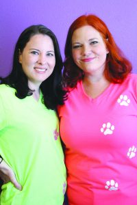 Amanda Simmons/Press-Tribune | Bossier residents Amy Zsimovan (left) and Cori Baril (right) opened an in-home business, Totally Barkin' Treats, earlier this year and have seen it thrive through word of mouth. Treats are made with local, organic ingredients and are safe for pets and humans.