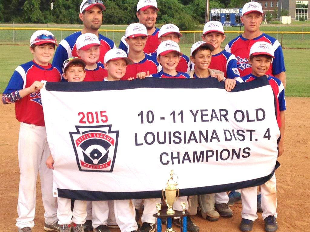 Courtesy Photo The Bossier City All-Stars won the Little League District 4 10-11 tournament at the Shreveport Little League Complex.