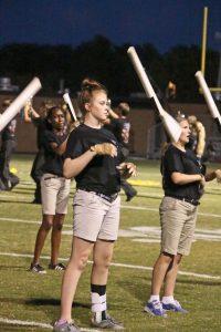 Amanda Simmons/Press-Tribune | Jayde Barnett performs with the Parkway HS color guard.