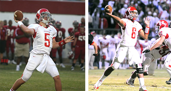 File/Press-Tribune Former Haughton quarterbacks JD Almond (left) and Dak Prescott will be the starters for NSU and Mississippi State, respectively, when the Demons travel to Starkville on Saturday
