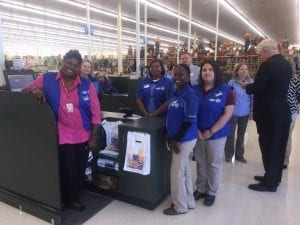 Courtesy Photo | Hobby Lobby employees excitedly await customers on the store's opening day.