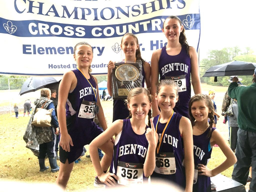 Courtesy Photo Benton won the girls' sixth-grade division in the Louisiana Elementary and Junior High Cross Country Championships on Saturday in Ruston.