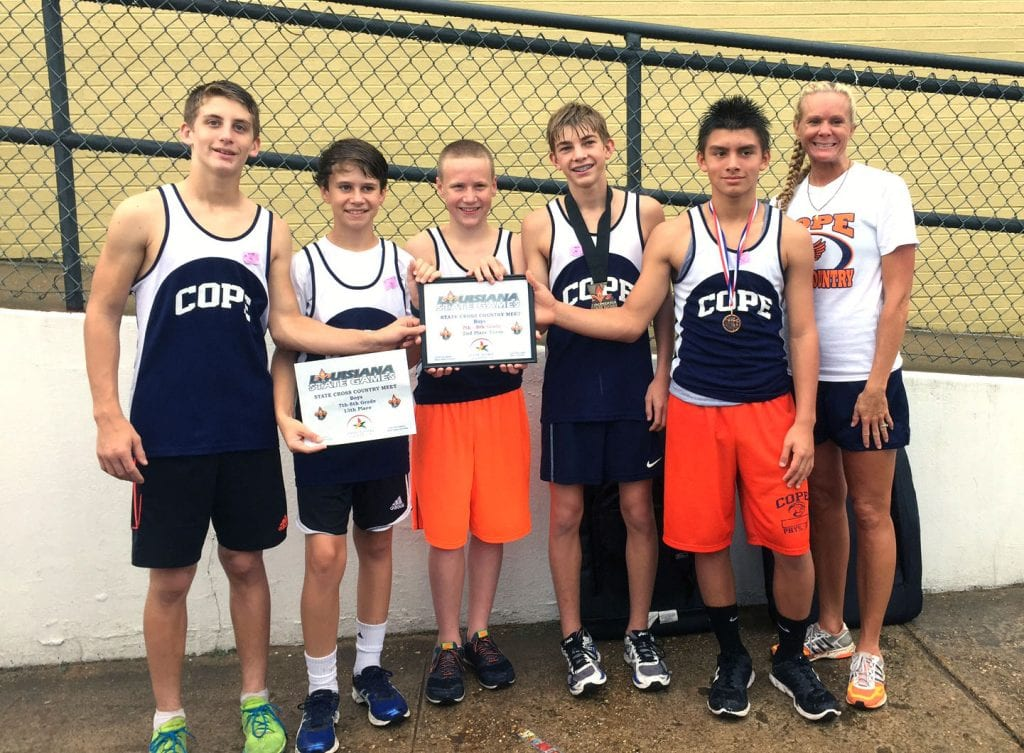 Courtesy Photo The Cope boys finished runner-up in the middle school state cross country meet on Saturday at ULM.