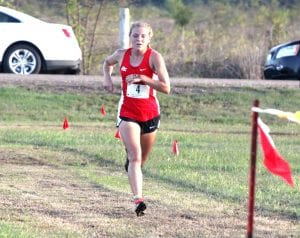 Russell Hedges/Press-Tribune Parkway's Sara Funderburk won the District 1-5A girls' cross country championship Monday at South Bossier Park.