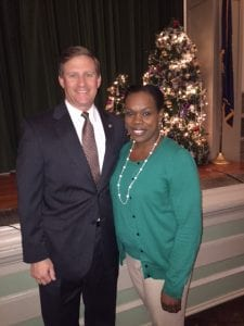 Courtesy Photo | Sen. Barrow Peacock with Bossier Elementary Principal Treska Mitchell.