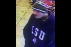 Video still of a suspect wanted for armed robbery of a Haughton store Feb 29, 2016.