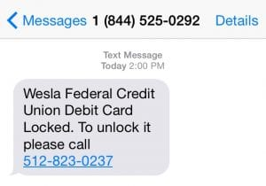 A screenshot of text message that has been circulating.