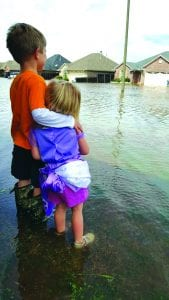 Courtesy of Michelle Meek | Collin, 6, and Alyssa, 2, standing on Bluebell Drive in the Golden Meadows subdivision in south Bossier.
