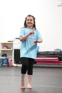 Amanda Simmons/Press-Tribune | Courtney Hays of Benton was the recipient of a private dance lesson from Vicki's School of Dance in Bossier City, one of many community partners who helped Pay It Forward Networking make Courtney's wishes come true.