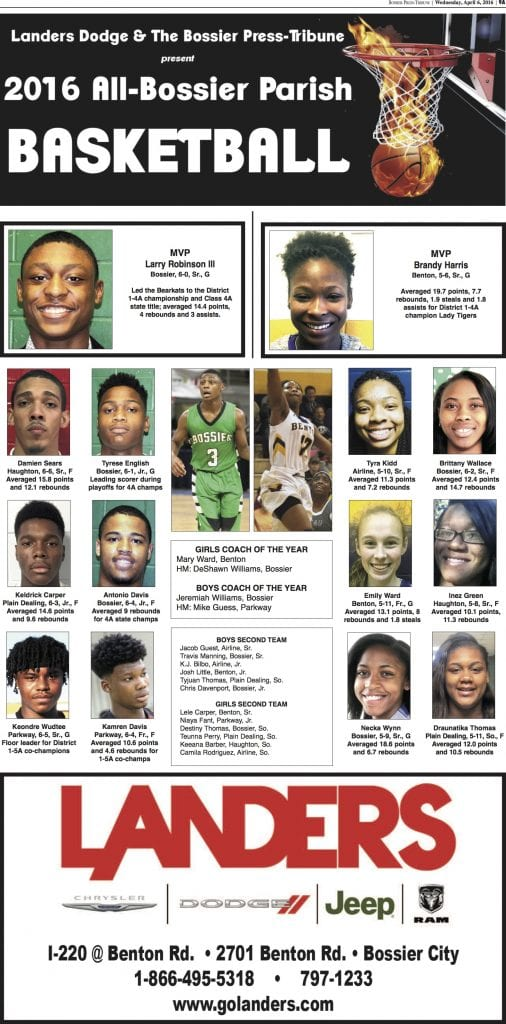 All-Bossier Parish basketball