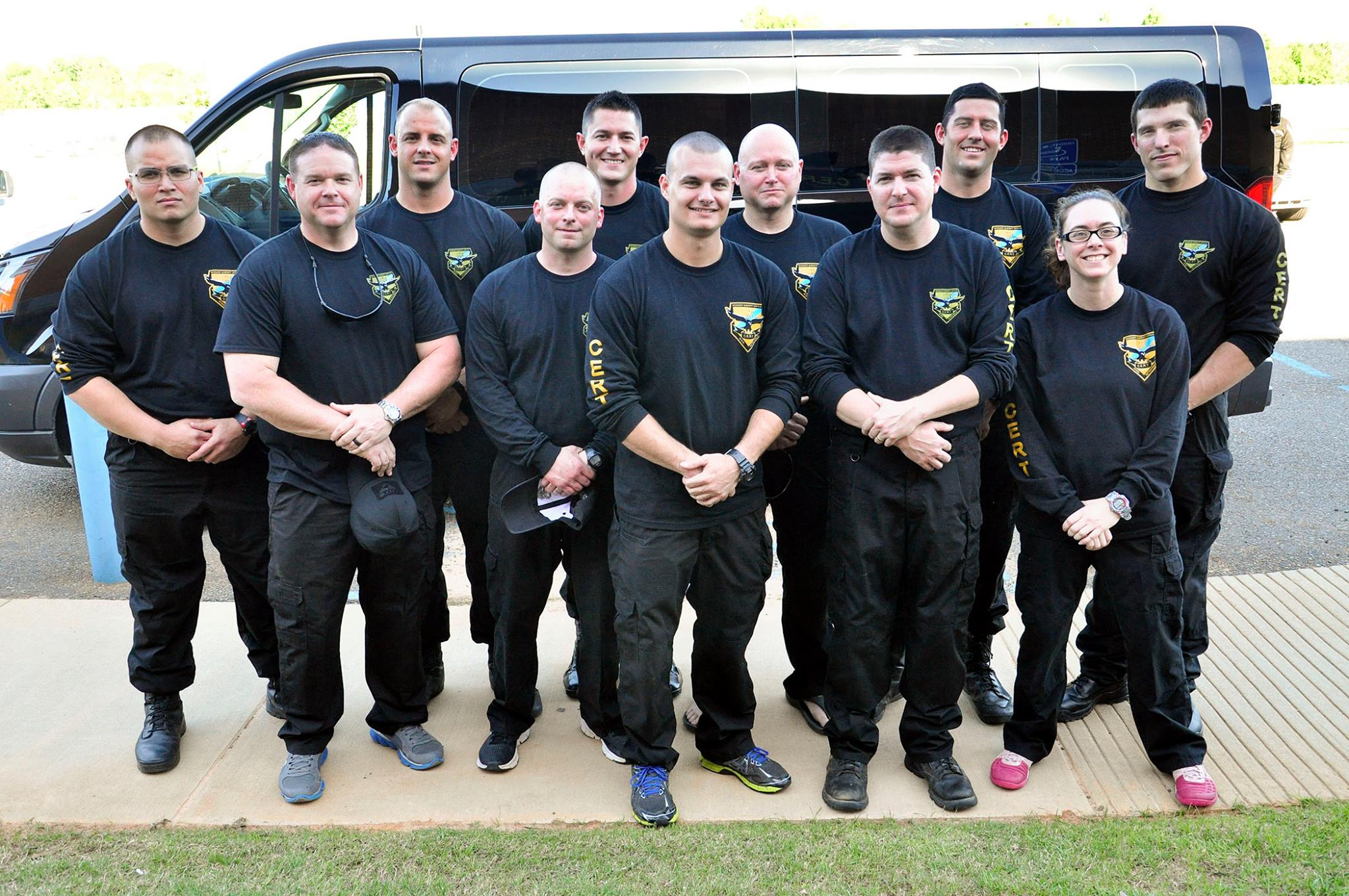Courtesy Photo | The CERT team poses for a group photo just before leaving on the 15-hour journey to the competition.