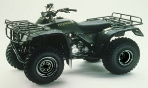 This photo is not the actual four-wheeler, but a good indication of what the four-wheeler might look like.