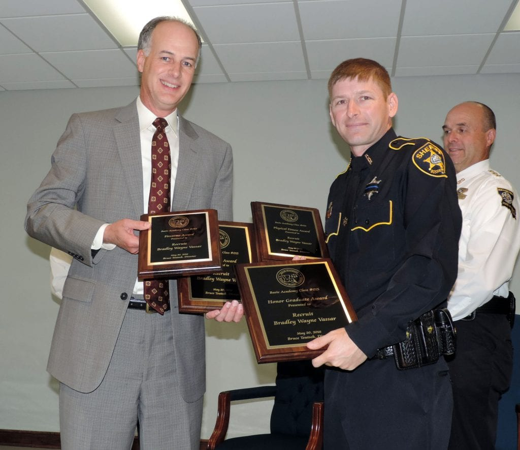 Bradley Vassar, Bossier Sheriff's Office, sweeps all the awards for Class 015. Photo by: Dep. Josh Cagle, Bossier Sheriff's Office.