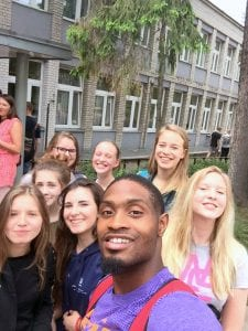 Courtesy of Devonte Hall and NSU Former Bossier standout Devonte Hall, a junior-to-be at Northwestern State, recently returned from a 10-day tour of Poland with Athletes in Action.