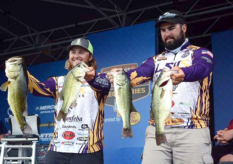 Courtesy of LSUS The LSUS duo of JP Kimbrough and Jared Rascoe qualified for the Carhartt Bassmaster National Championship with a second-place finish in the Carhartt Bassmaster Wildcard Collegiate Tournament on Lake Murray in Oklahoma.