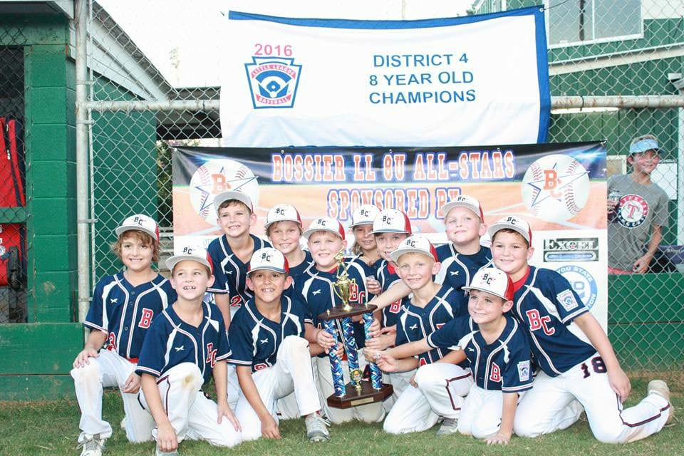 Courtesy Photo The Bossier All-Stars won the Little League 8-under District 4 and state championships.