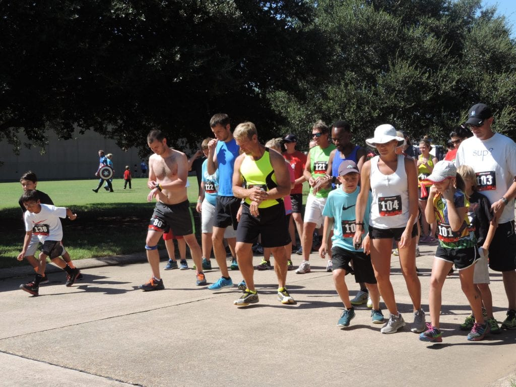 Courtesy Photo | Runners await the start.