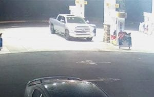Surveillance footage of truck