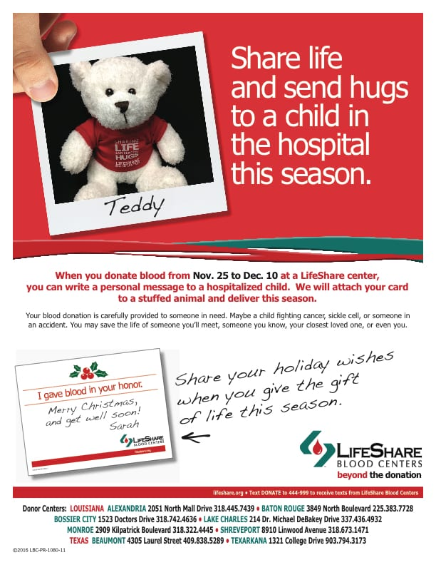 Christmas Blood Donation Drive.Blood Donors Can Provide An Extra Gift To Hospitalized