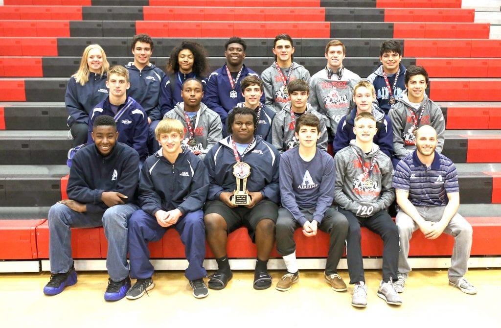 Robert Summerlin/Special to The Press-Tribune Airline finished runner-up in the 2016 Riot on the Red wrestling tournament Saturday at Parkway.