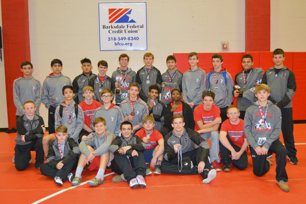 Courtesy Photo Parkway won the 2016 Riot on the Red wrestling tournament on Saturday at Parkway.