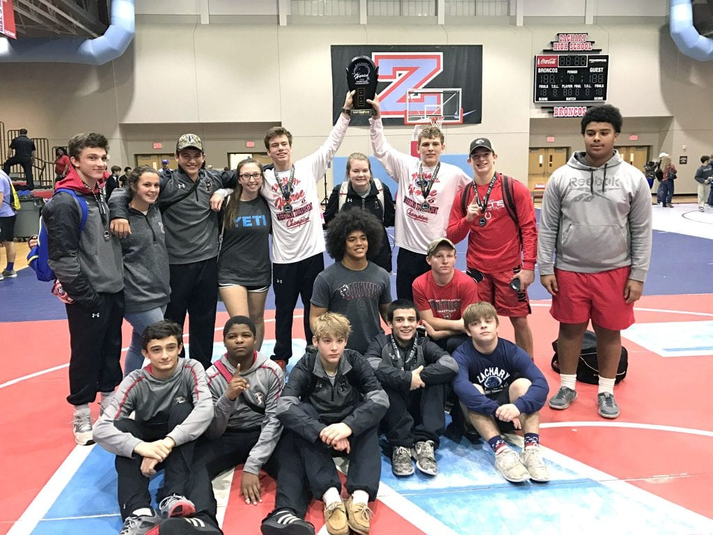 Courtesy Photo The Parkway Panthers won the Zachary Big Horse wrestling tournament on Saturday in Zachary.