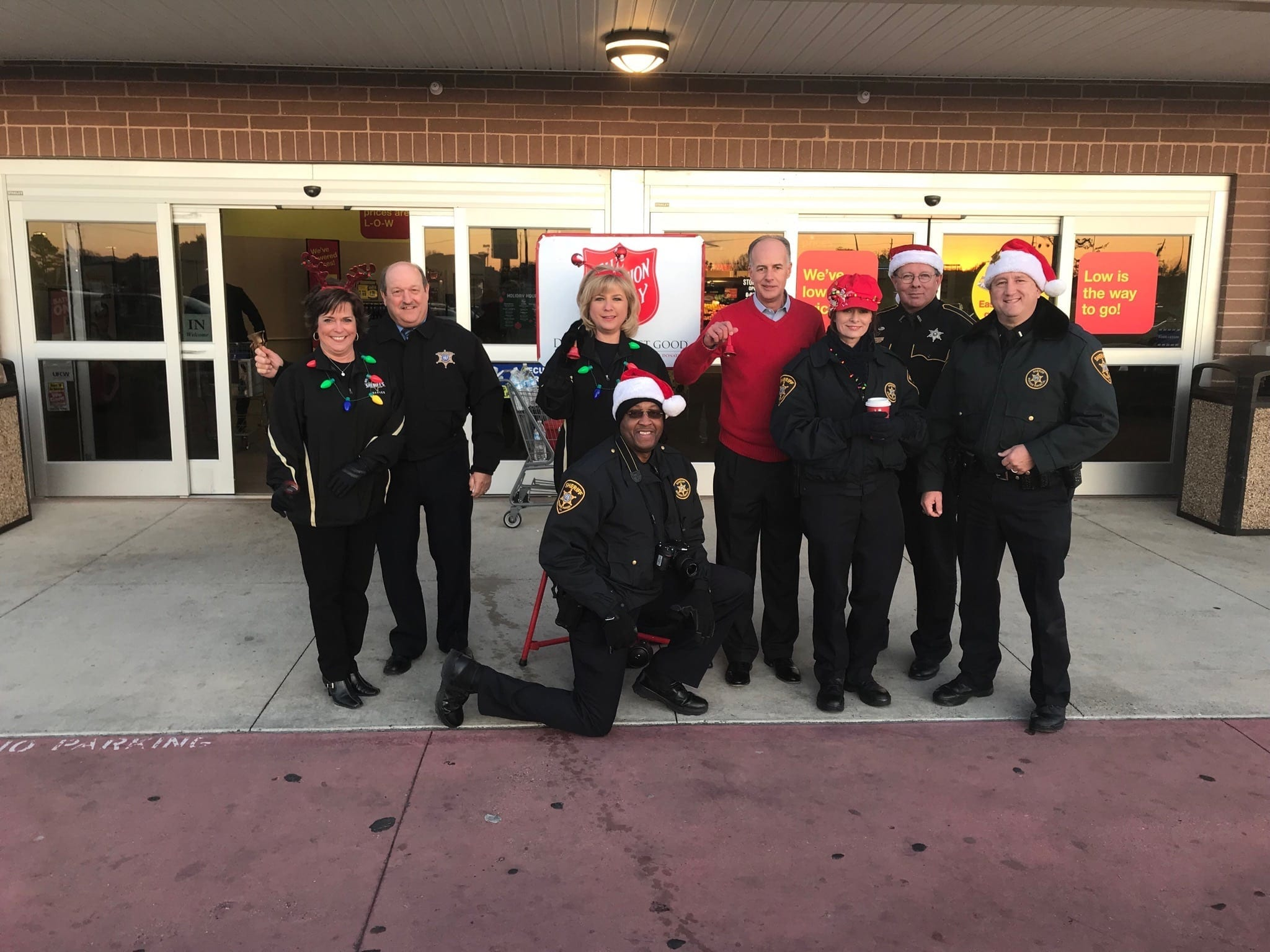 Santa visits the Salvation Army