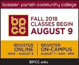 Advertisement – BPCC Fall Registration 2018