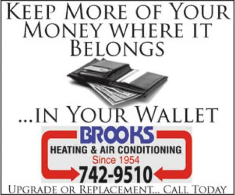 Advertisement – Brooks Heating & Air