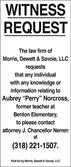 Advertisement – Morris, Dewett & Savoie, L.L.C.