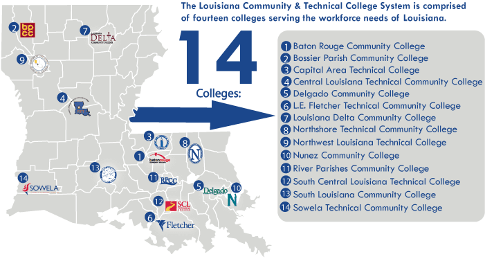 colleges in louisiana map Lctcs Board No Tuition Increases For Louisiana Families In 2016 colleges in louisiana map